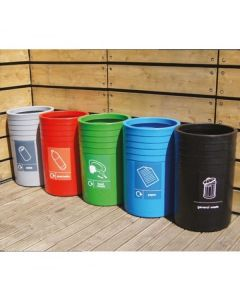 Circular Polythene Recycling Bins - 91 Litres