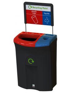 Meridian Dual Aperture Recycling Bin - 110 Litre