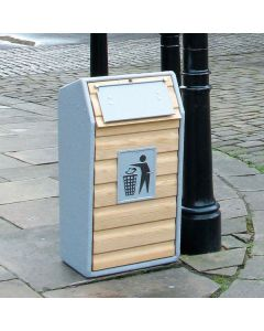 Single Wood Recycling Unit - 105 Litre