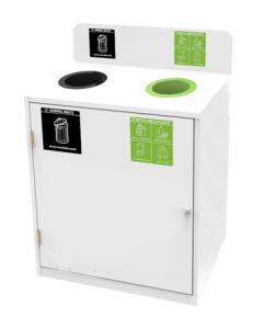Zeus 2 Bay Recycling Station (87 Litres per Bay)